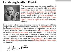 Crisis sugun Albert Einstein